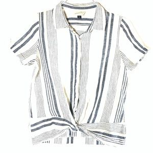 ANTHRO like Striped Summer Top